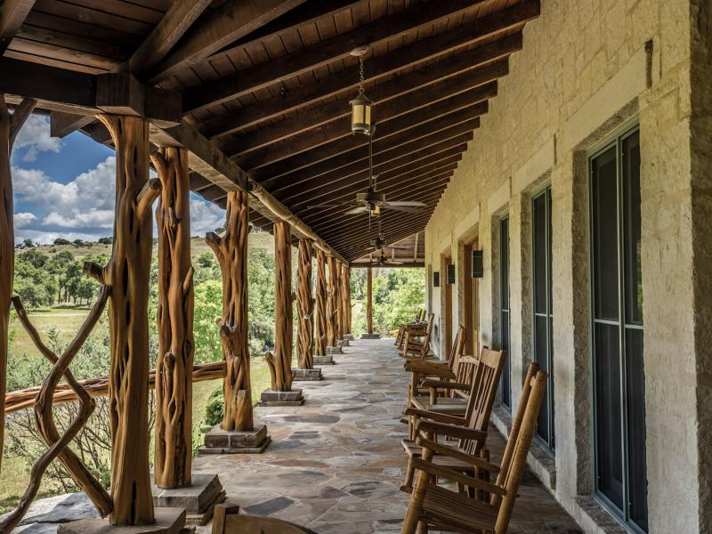 covered porch texas land for sale