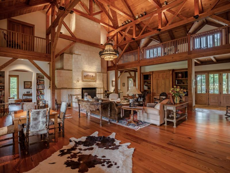 wooden interior ranch in texas