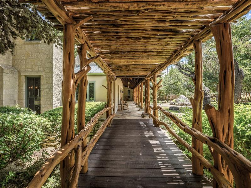 covered walkway texas hill country land for sale
