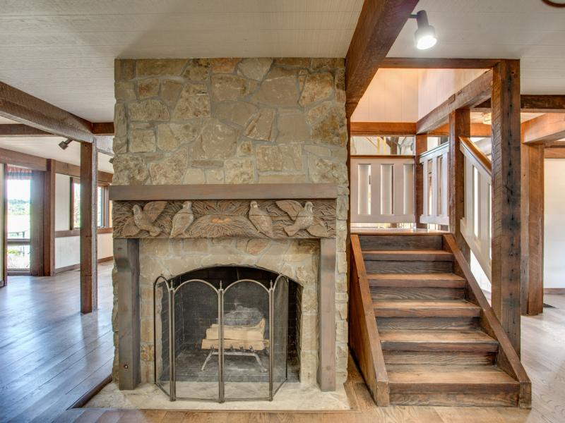fireplace texas hill country land for sale