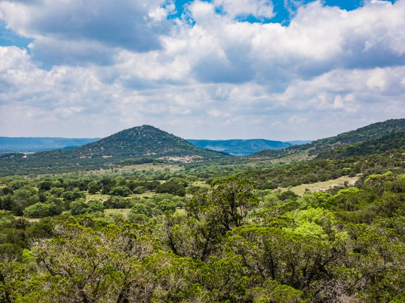 Tarpley Ranch with elevation changes of 460 feet provide breath taking views