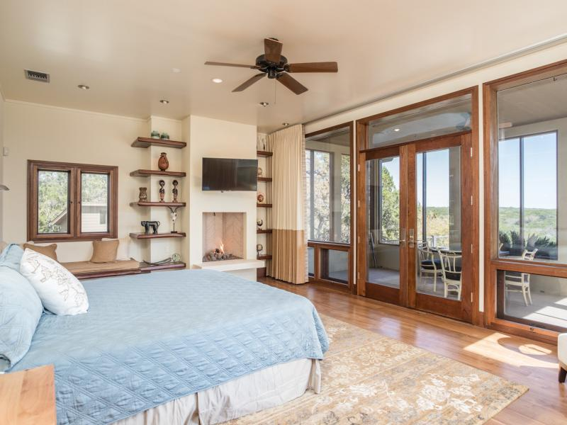 Master bedroom in 7 Springs Ranch a land availabe for sale in Texas.