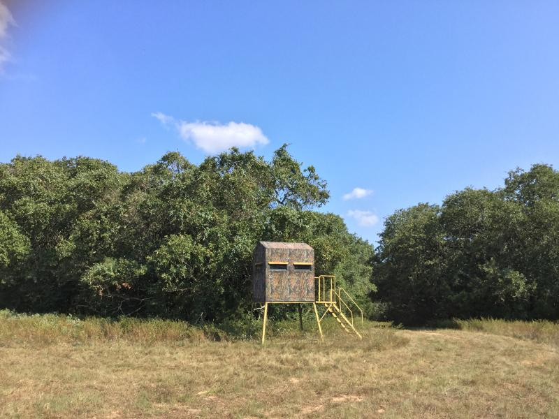 Waelder Ranch with hunting blind ranches in texas hill country