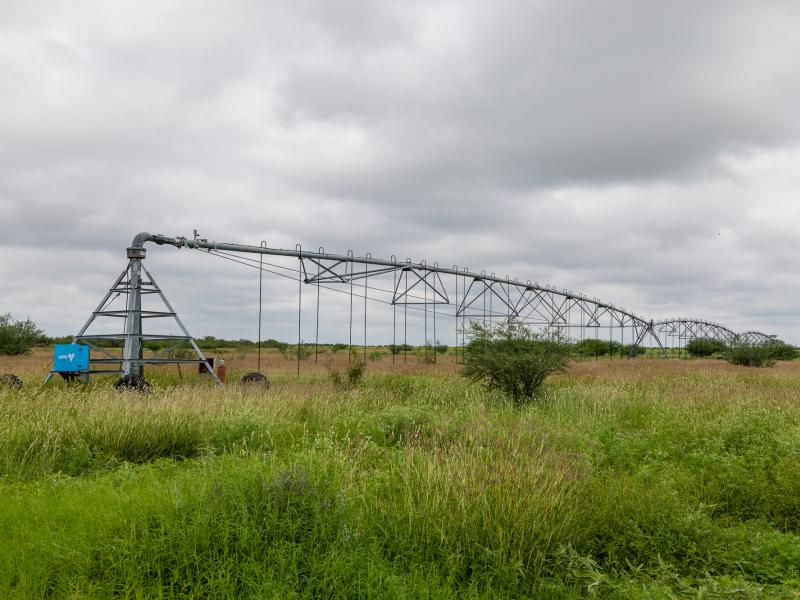Pivots on the Cow Creek Ranch for sale