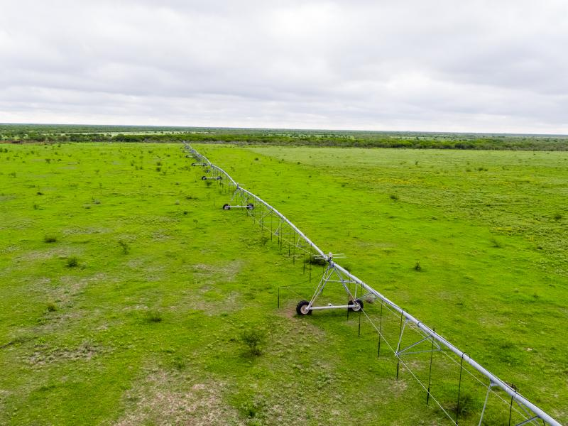 Cow Creek has 2 Irrigation pivots capable of irrigating over 530 acres