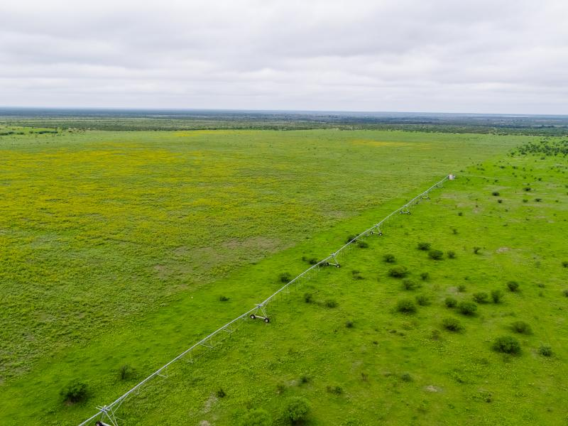 Aerial view of Cow Creek Ranch for sale in Texas