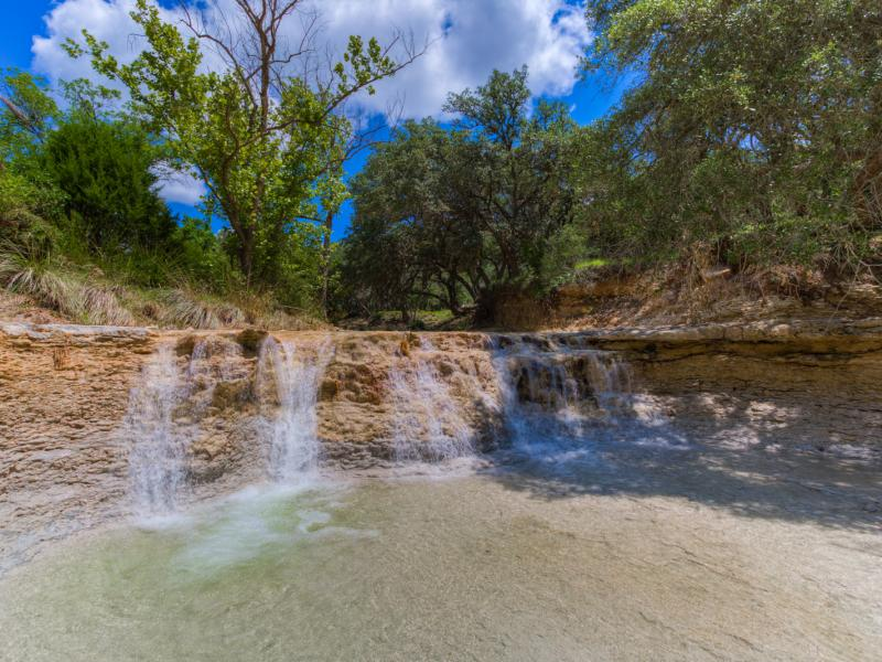 Turkey Knob Ranch is a beautiful ranch with waterfalls in the texas hill country for sale