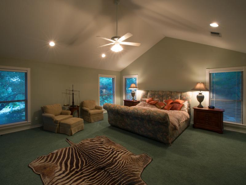 master bedroom in the Turtle Creek Ranch for sale in Texas